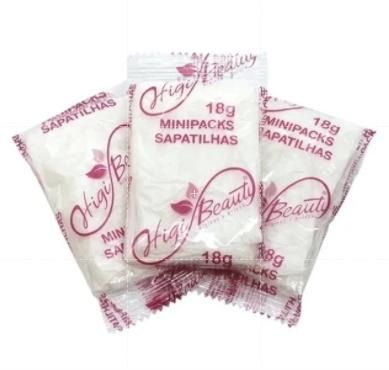 Sapatilha Com Creme Emoliente - 25 Pares  Kit Pedicure