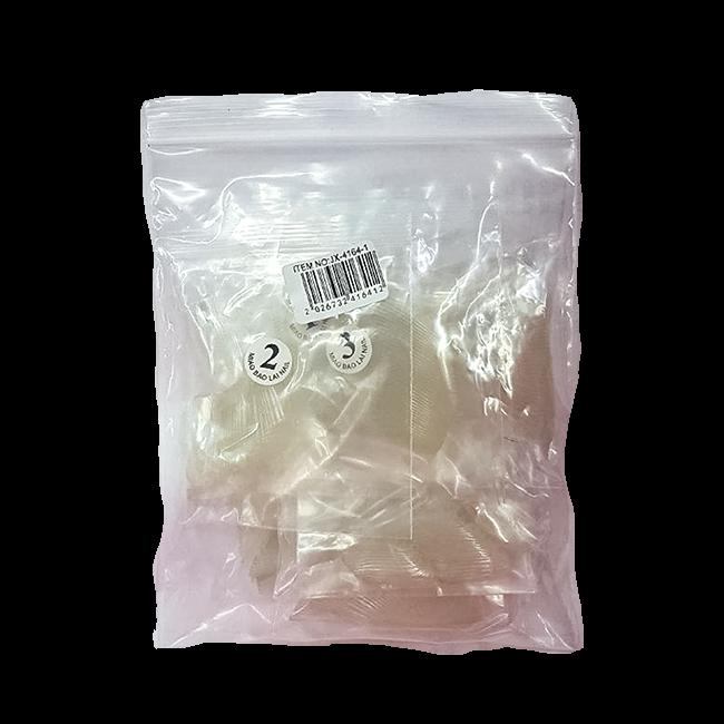 Tips Bailarina Transparente Unhas Acrigel Porcelana c/ 500 unidades