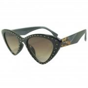Óculos De Sol Mackage Feminino Acetato Gatinho Retrô - Preto