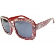 Óculos De Sol Mackage Feminino Acetato Oversize - Vermelho Marmorizado