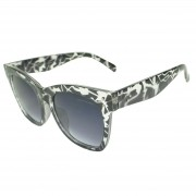 Óculos de Sol Mackage Feminino Acetato Oversize Quadrado Retrô - Preto Animal Print