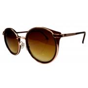 Óculos De Sol Mackage Feminino Metal Redondo - Dourado com Marrom