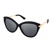 Óculos De Sol Tilit  Feminino Acetato Gateado - Preto Fosco