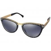 Óculos De Sol Tilit Feminino Acetato/Metal Gateado - Preto Gliter