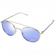 Óculos De Sol Tilit Unissex Metal Redondo - Prata