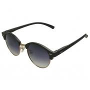 Óculos De Sol Tilit Unisex Acetato Redondo Clubmaster - Preto/Dourado