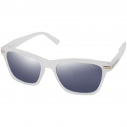 Óculos De Sol Tilit Unisex Acetato Retangular - Branco Gelo