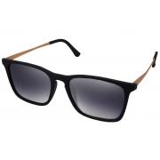 Óculos De Sol Tilit Unissex Acetato Retangular Erika - Preto