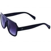 Óculos De Sol Tilit Unissex Acetato Retangular - Preto