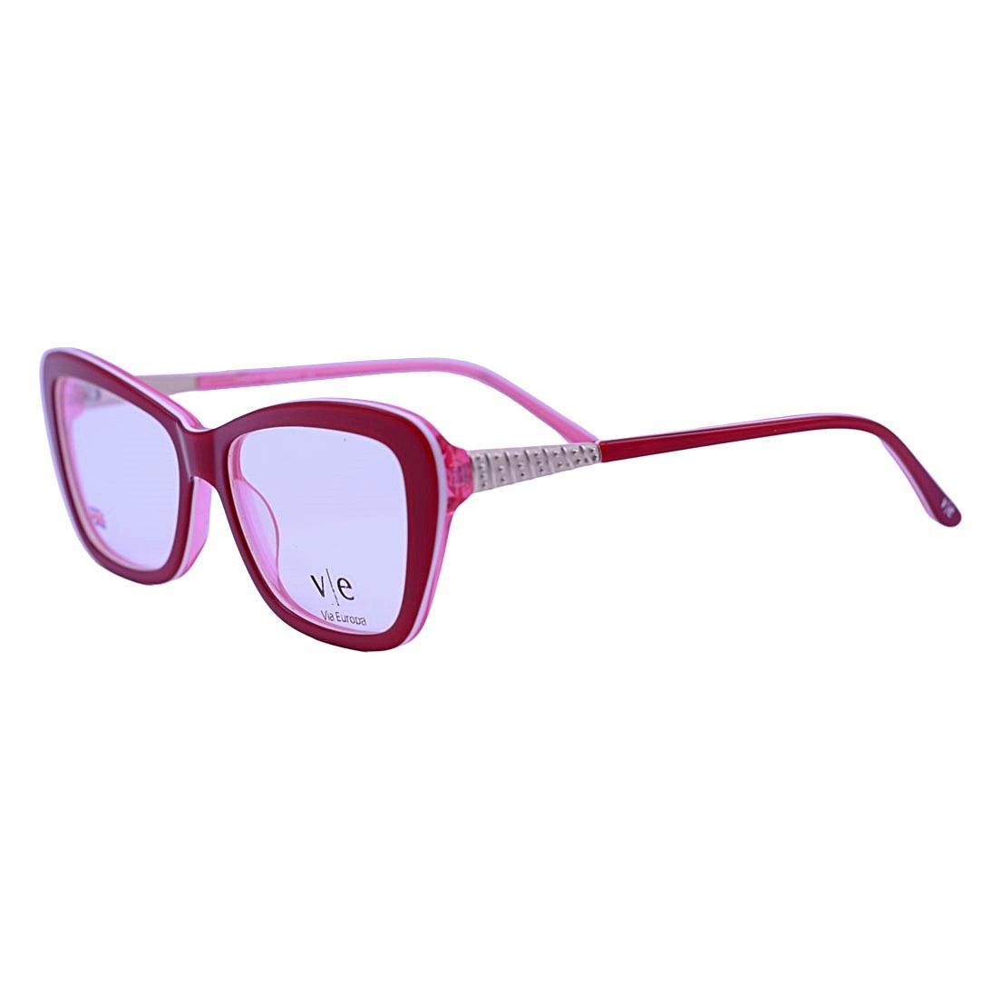 Armação Óculos De Grau Mackage Feminino Gateado Retangular - Vermelho/Rosa