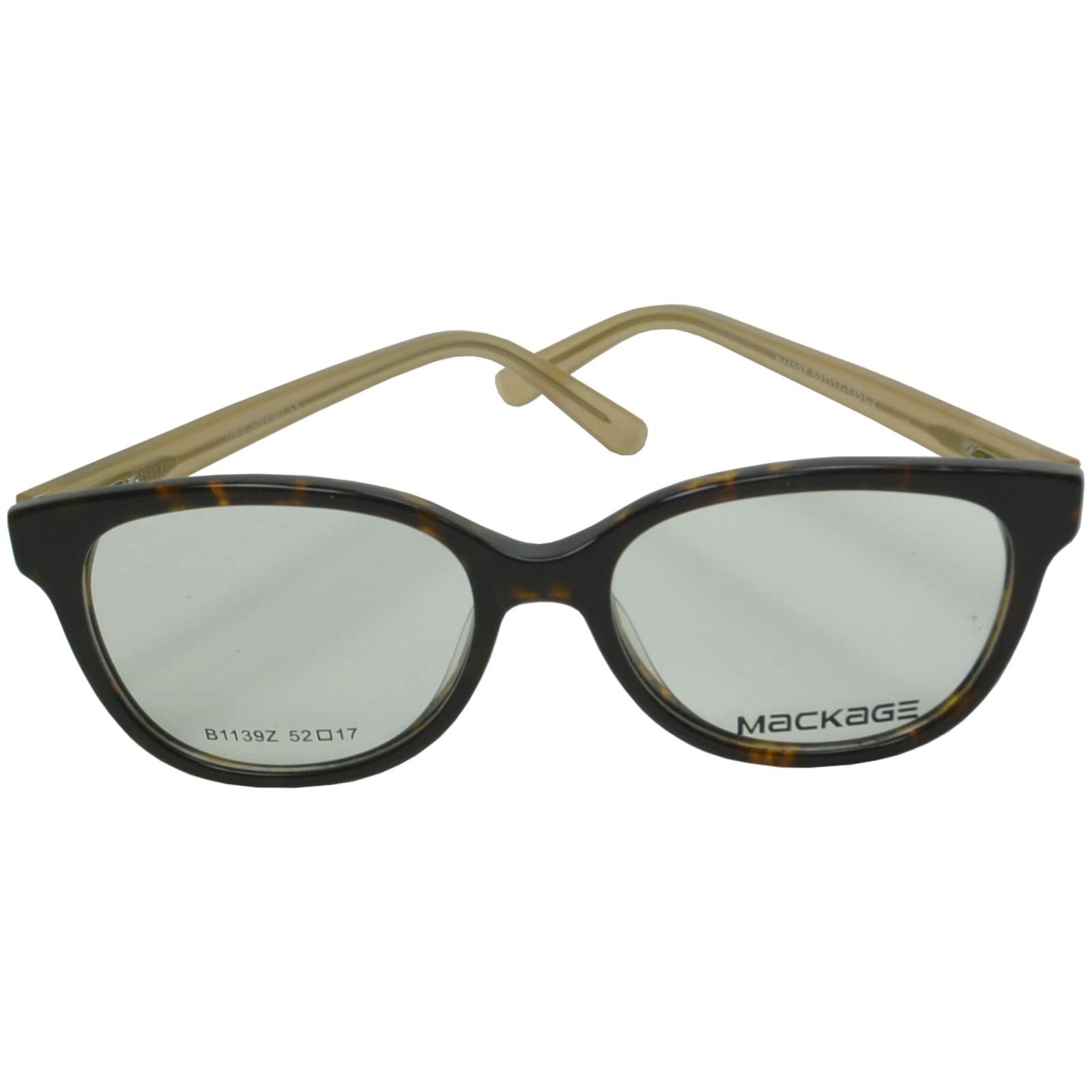 Armação Óculos De Grau Mackage Masculino Retangular - Preto/Bege