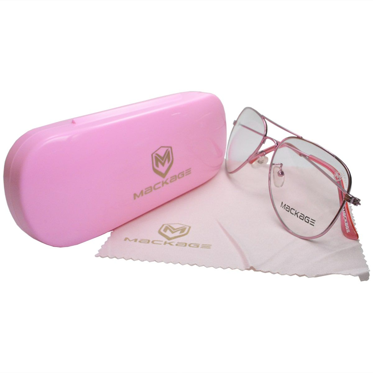 Armação Para Óculos De Grau com Estojo Edição LTDA - Mackage MKAVIATR Rosa
