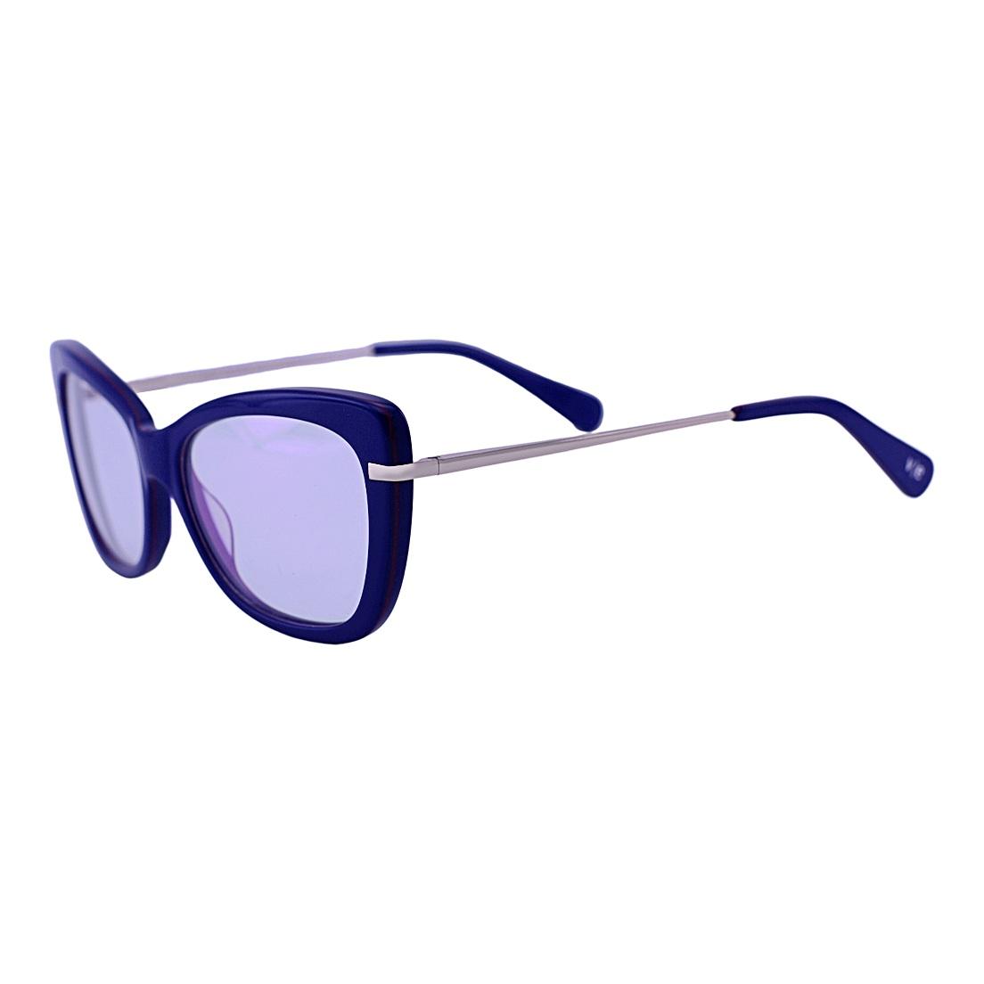 Armação para óculos De Grau Mackage Feminino Retangular Gateado - Azul Marinho