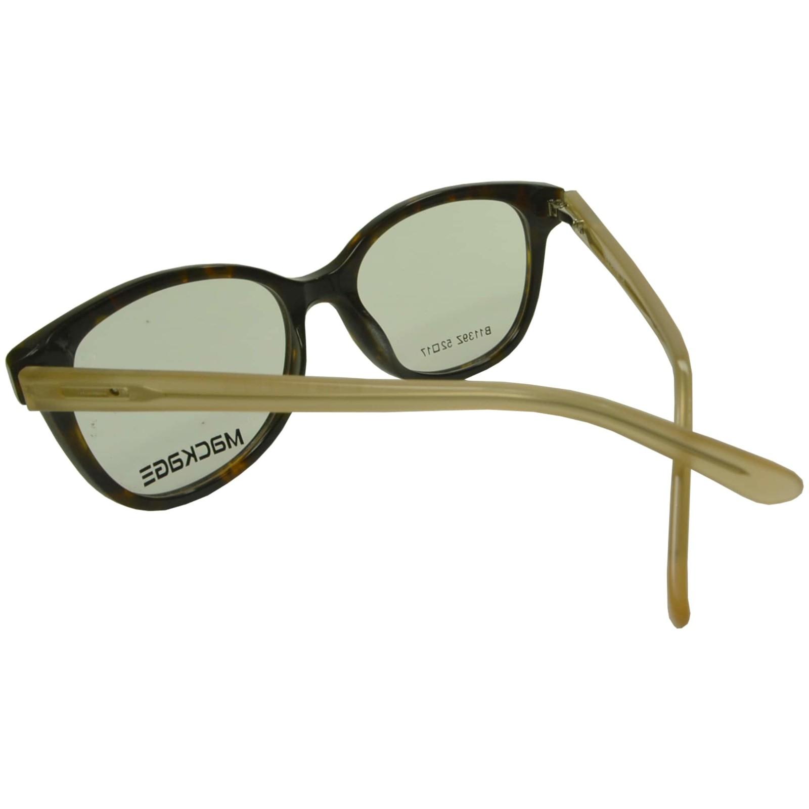 Armação Para Óculos De Grau Mackage Masculino Retangular - Preto/Bege