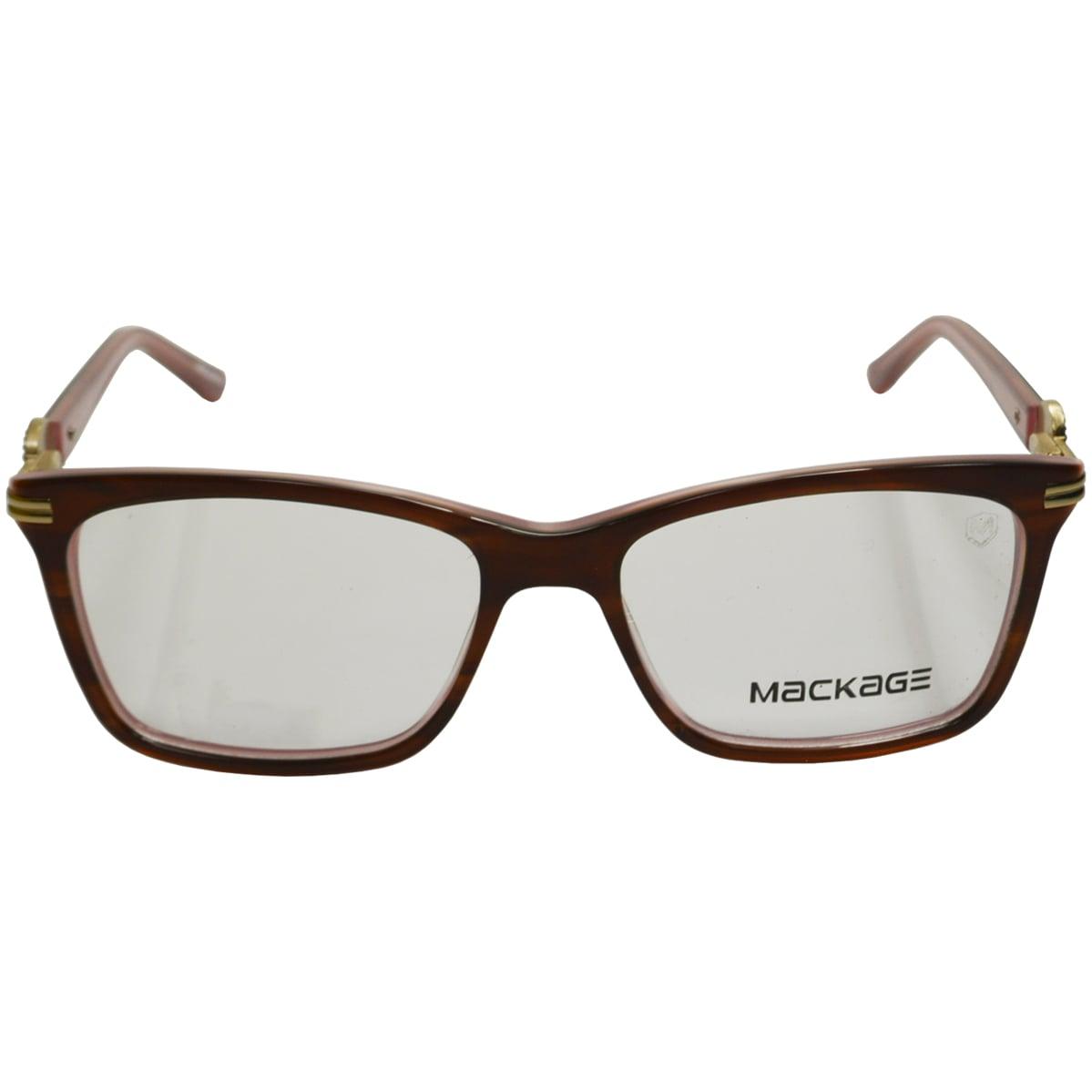 Armação Para Óculos De Grau Mackage MKA2168 Marrom E Rosa