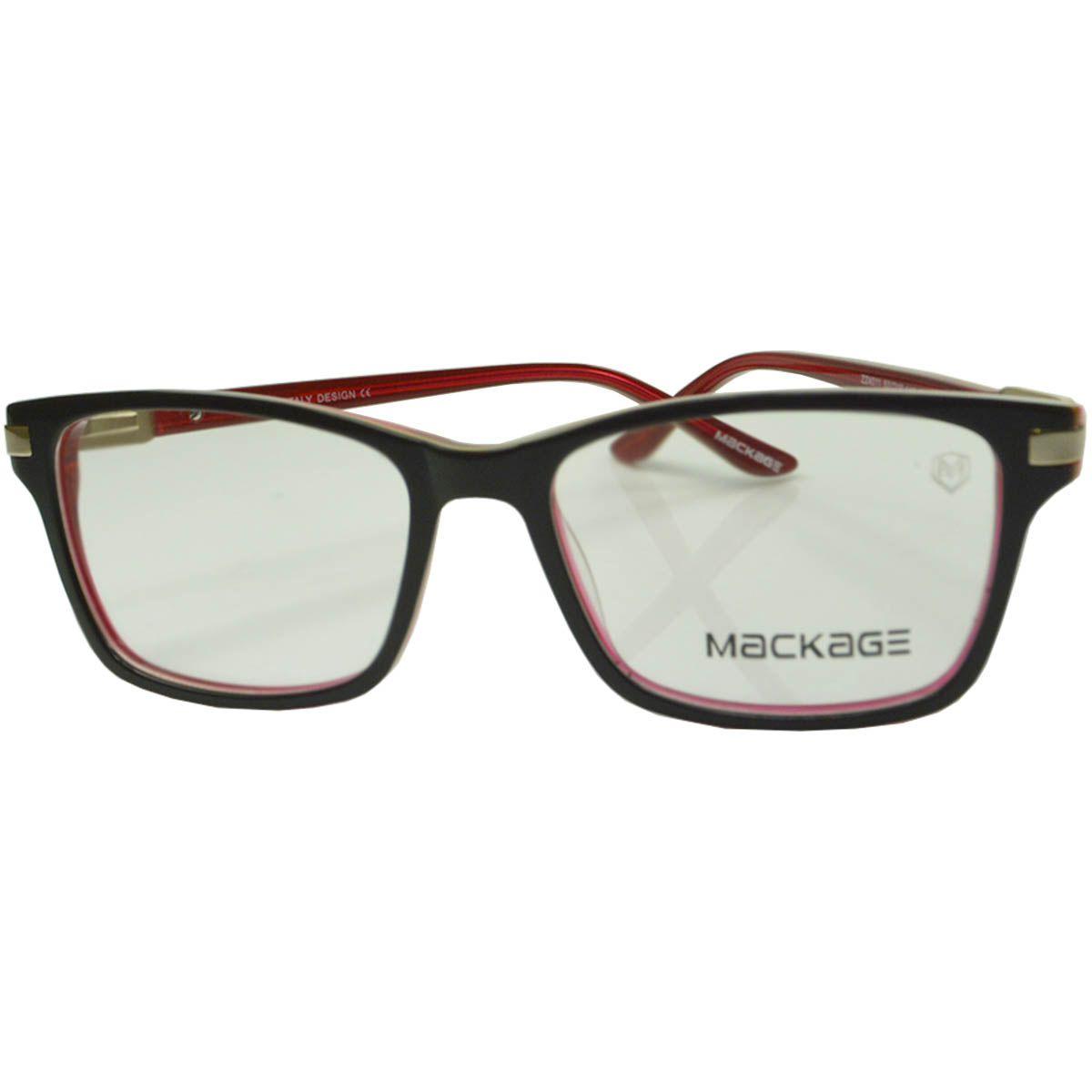 Armação Para Óculos De Grau - Mackage MKA4011C1 Preto Vermelho