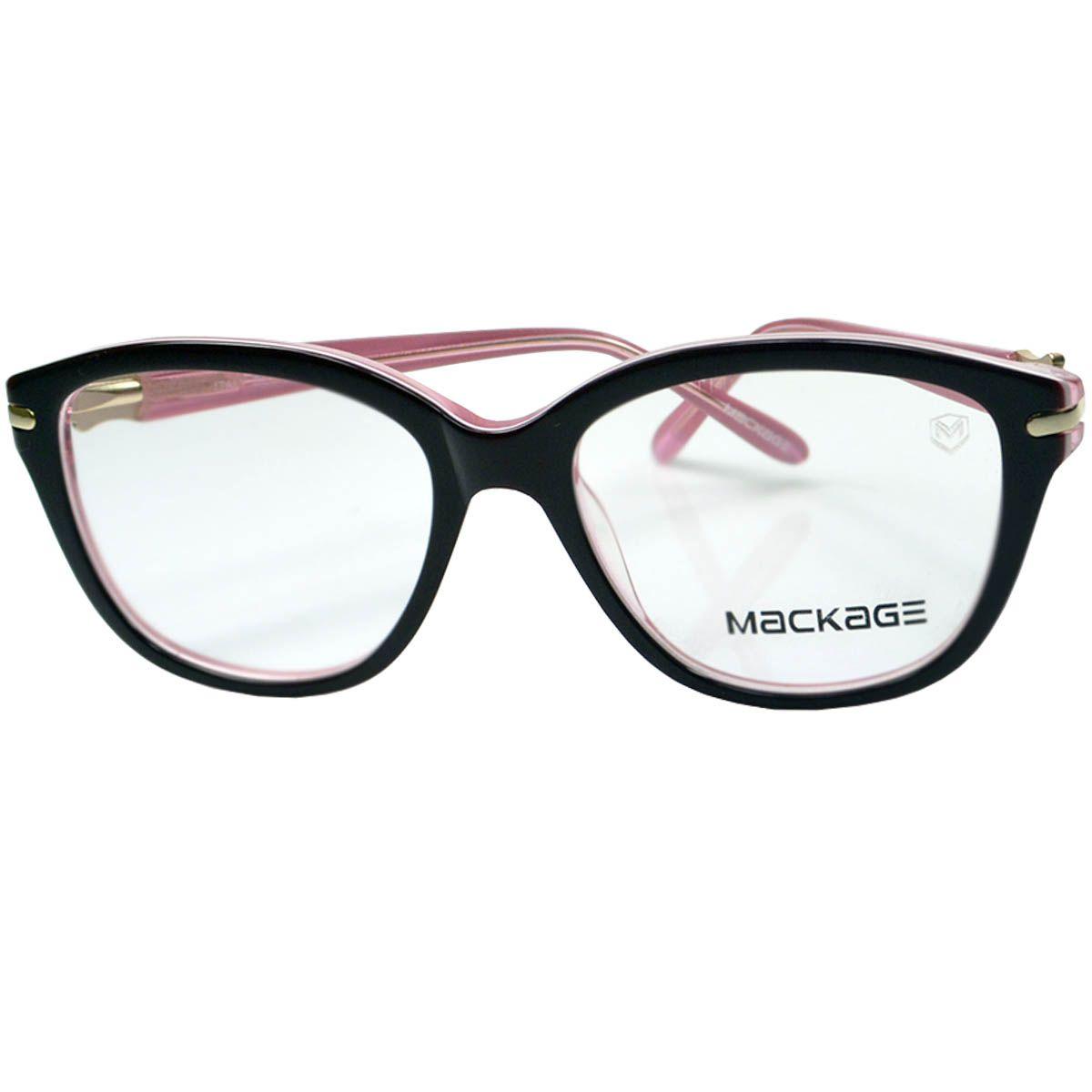 b56030237106d Armação Para Óculos De Grau - Mackage MKA8131C4 Preto Rosa