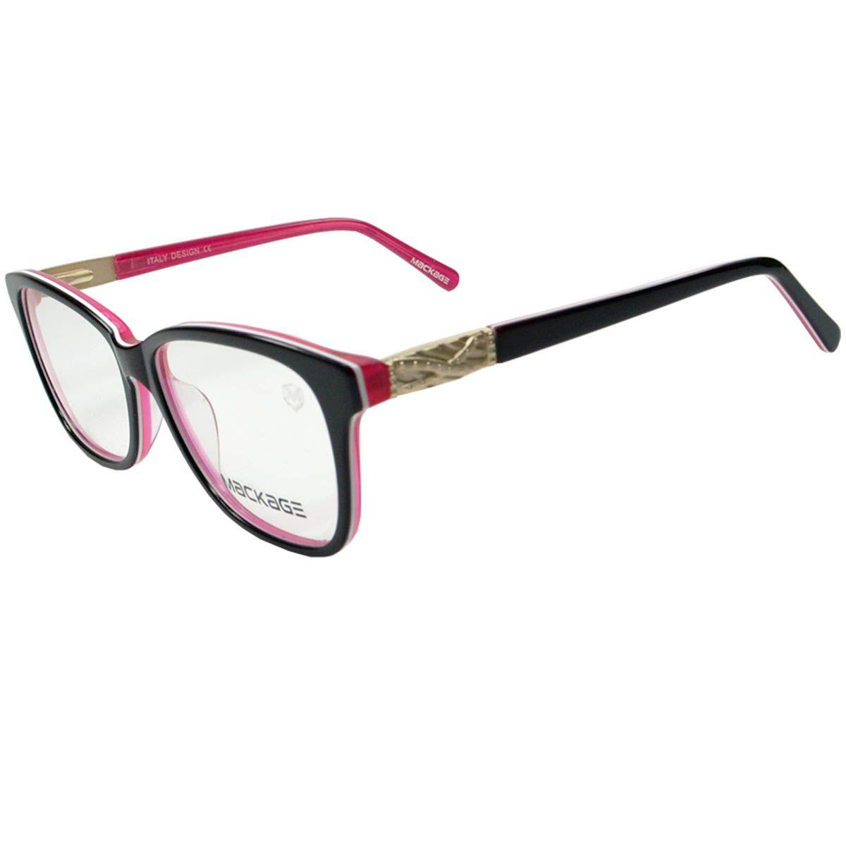 cb31aad548246 Armação Para Óculos De Grau - Mackage MKA8191C4 Preto Rosa
