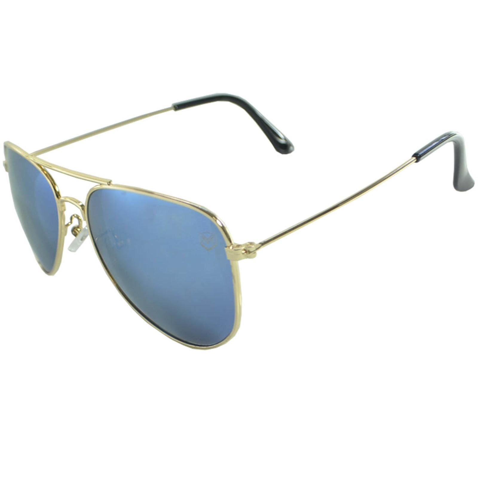 Óculos De Sol Mackage Unissex Metal Aviador Clássico - Dourado