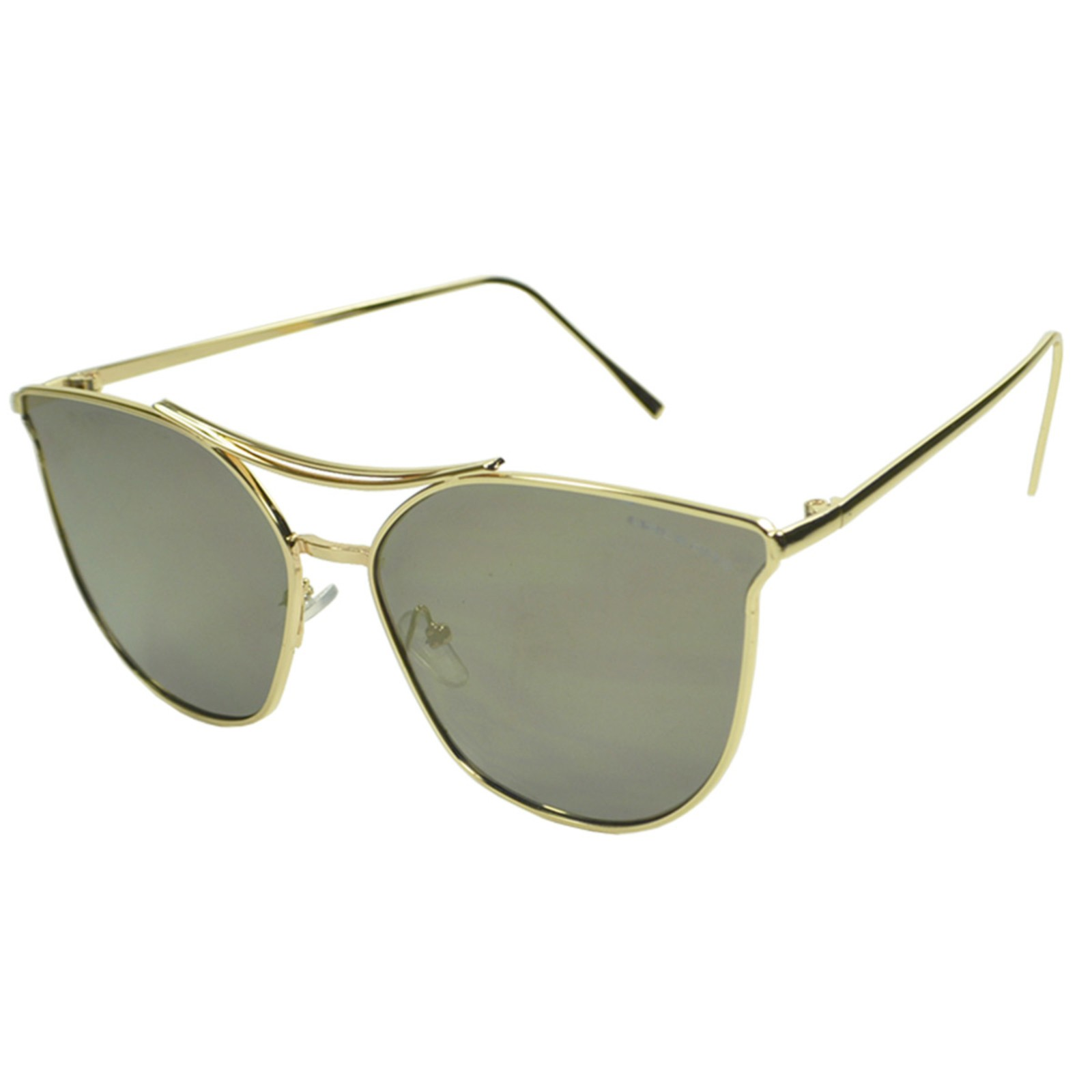 Óculos de Sol Mackage Unissex Metal Geométrico Gateado - Dourado