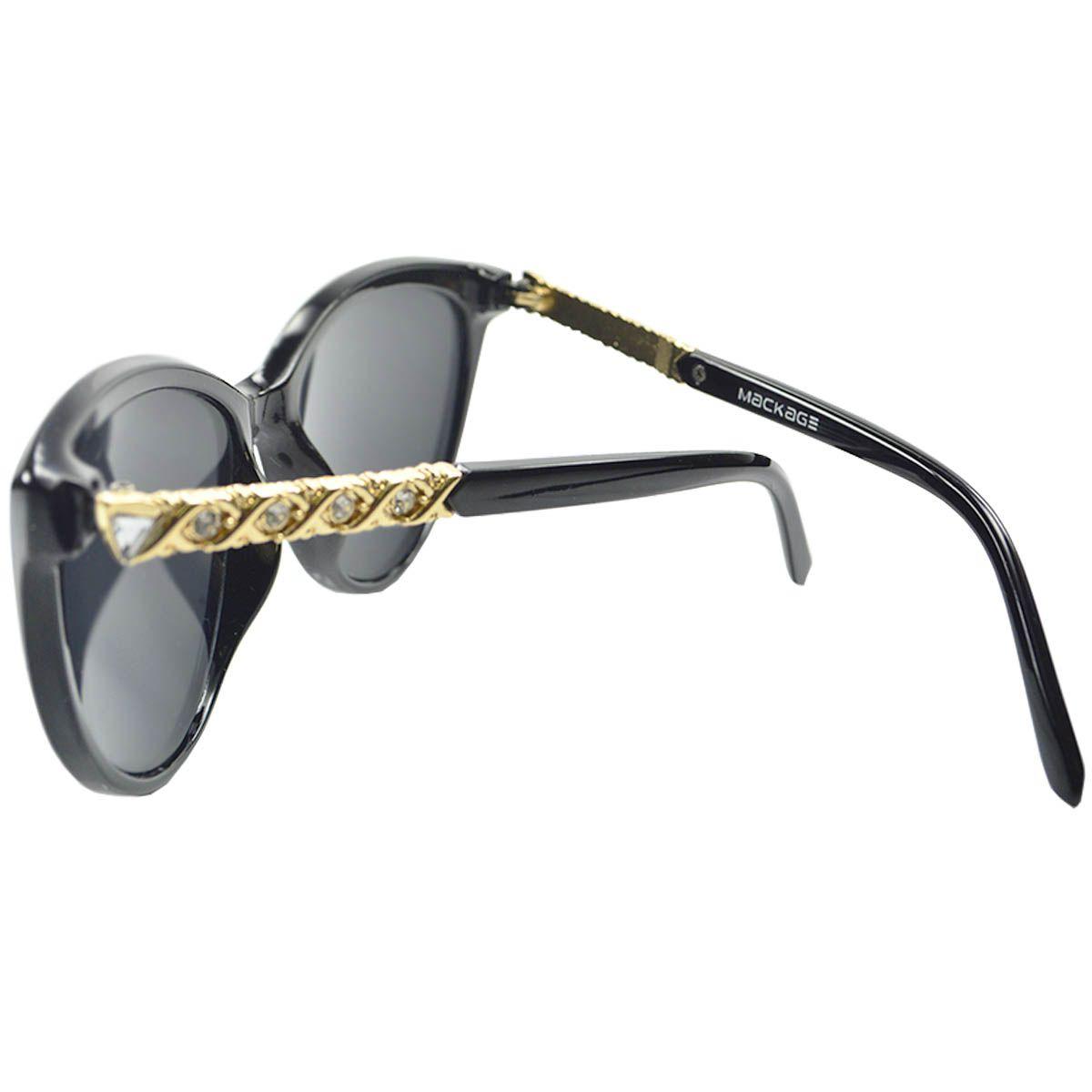 Óculos de Sol Feminino Mackage Gold Chain MK2120P