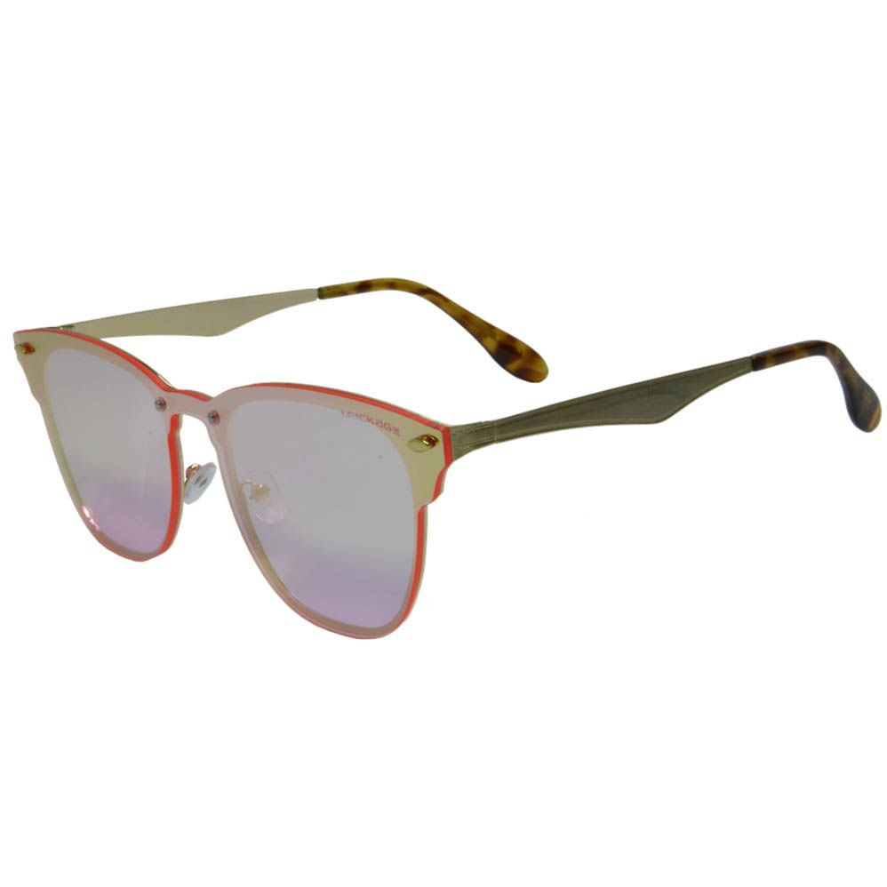 Óculos De Sol Mackage Feminino Metal Gateado Rimless - Dourado