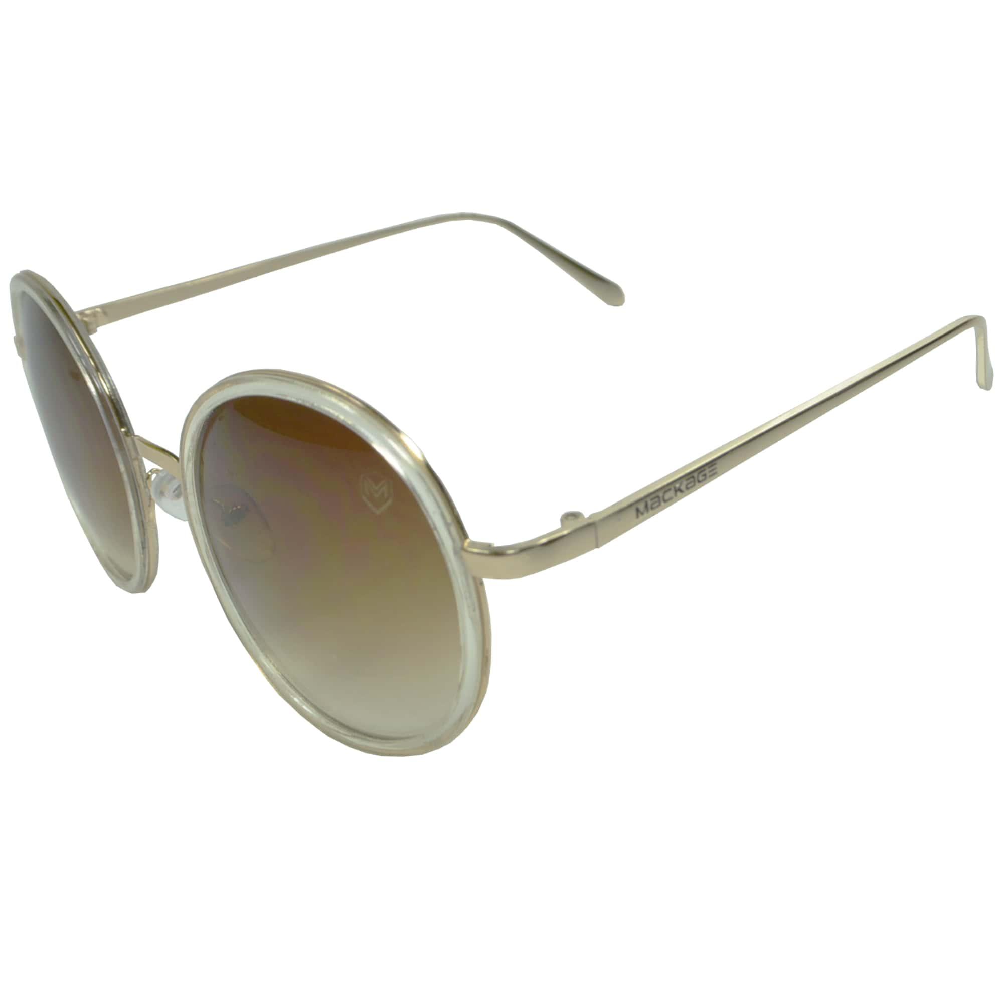 Óculos de Sol Redondo Mackage MK2170 Preto / Marrom / Gelo