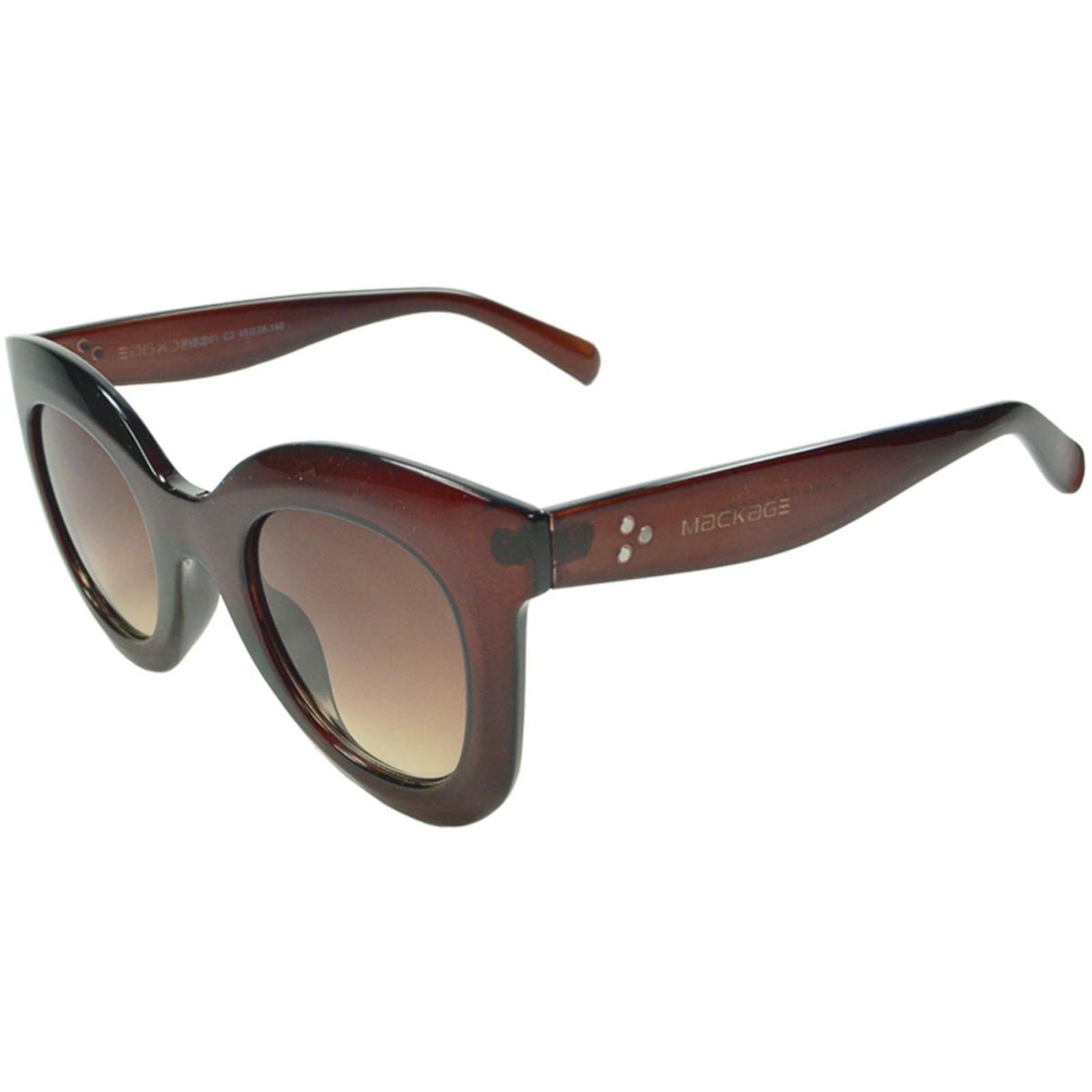 Óculos De Sol Mackage Acetato Feminino Oversize Redondo Retrô - Marrom