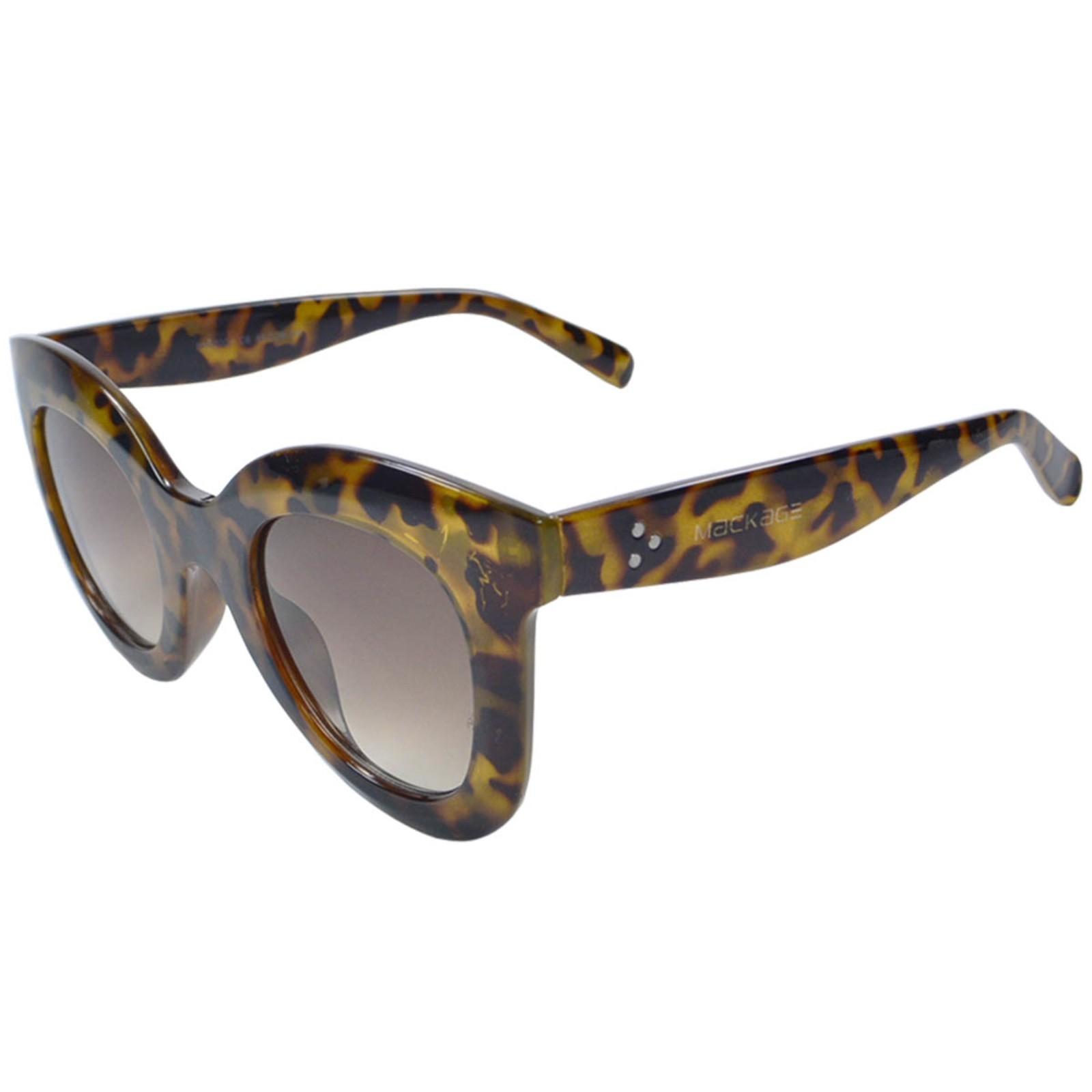 Óculos De Sol Mackage Acetato Feminino Oversize Redondo Retrô - Tarta