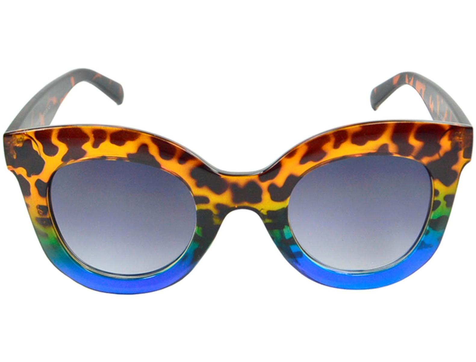 Óculos De Sol Mackage Acetato Feminino Oversize Redondo Retrô - Tarta Azul