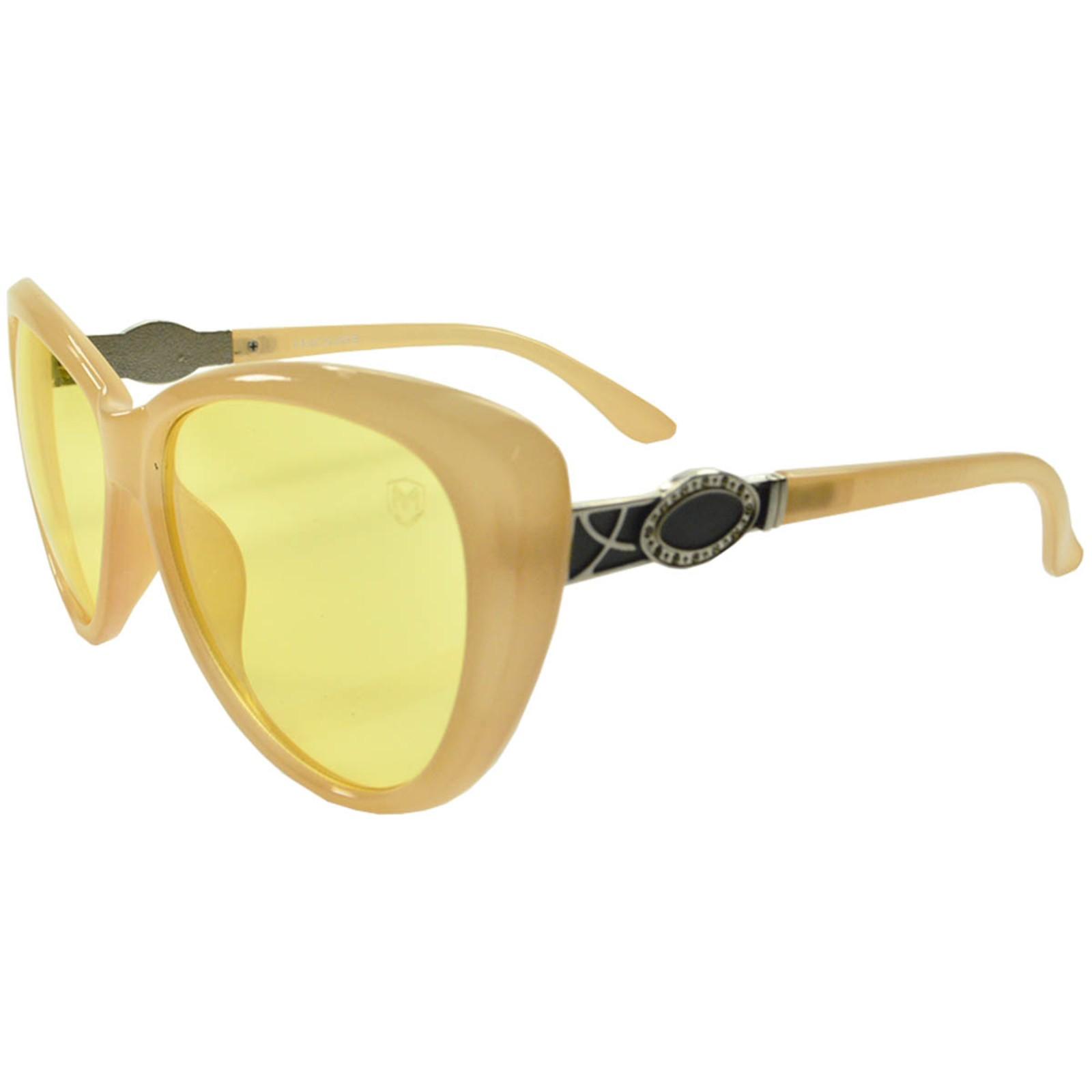 Óculos De Sol Mackage Feminino Acetato Gateado - Amarelo