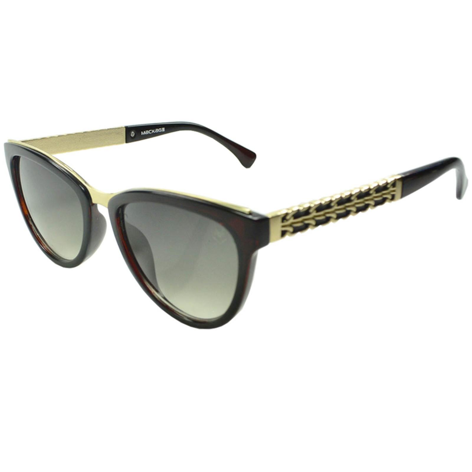 Óculos De Sol Mackage Feminino Acetato Gateado - Marrom