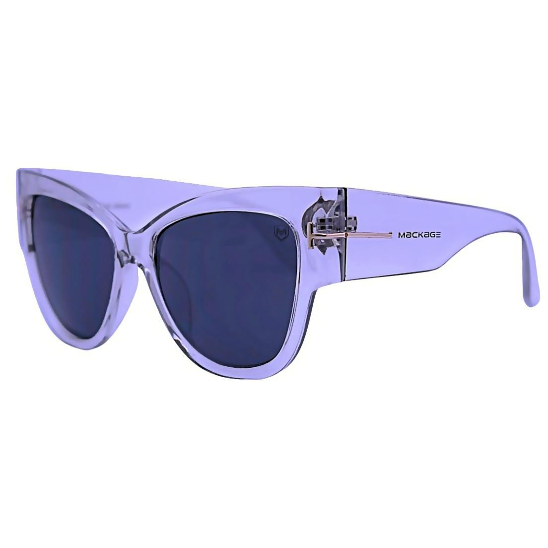 Óculos De Sol Mackage Feminino Acetato Gateado Oversize - Cristal