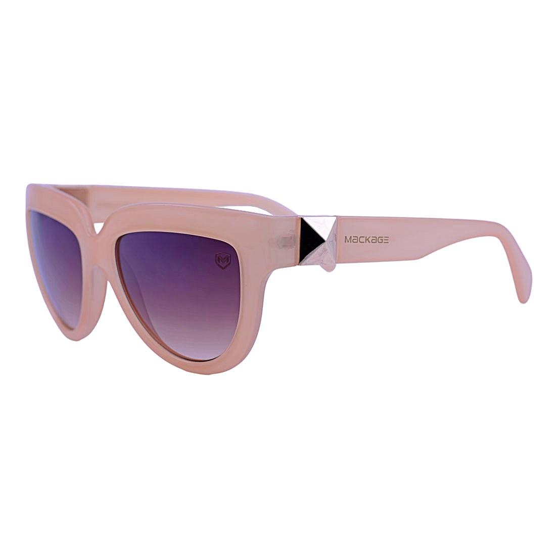 Óculos De Sol Mackage Feminino Acetato Gateado Oversize - Nude