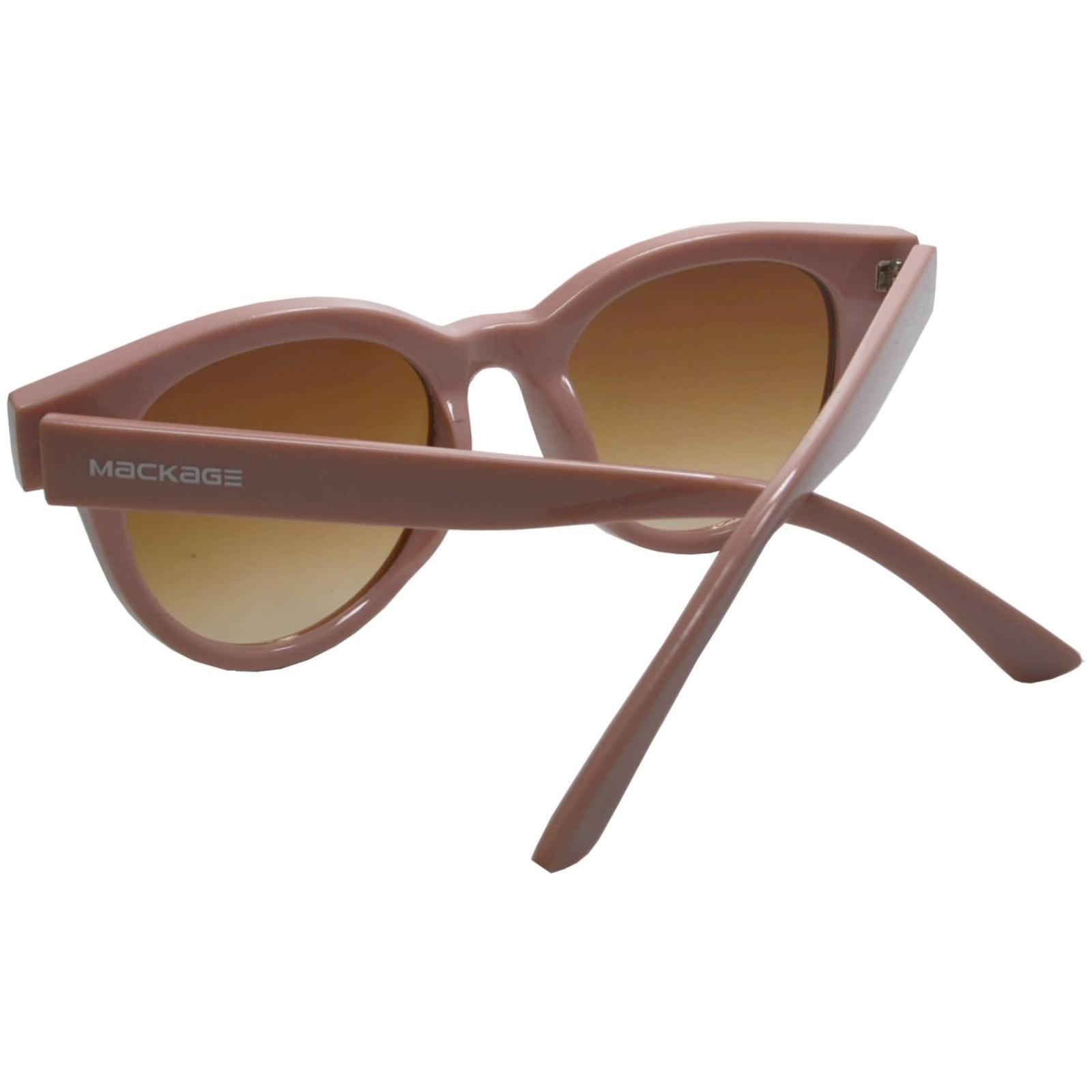 Óculos de Sol Mackage Feminino Acetato Gateado Retro - Nude