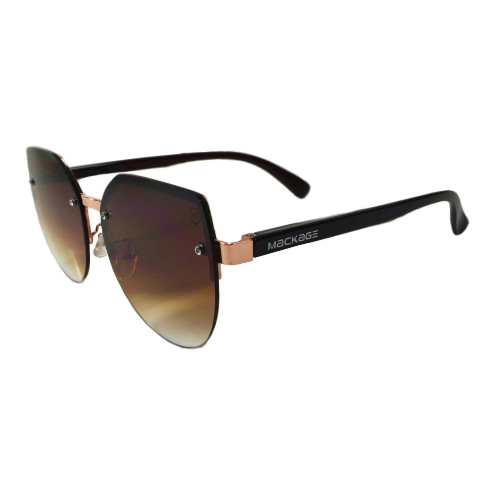 Óculos De Sol Mackage Feminino Acetato Gateado Rimless - Marrom