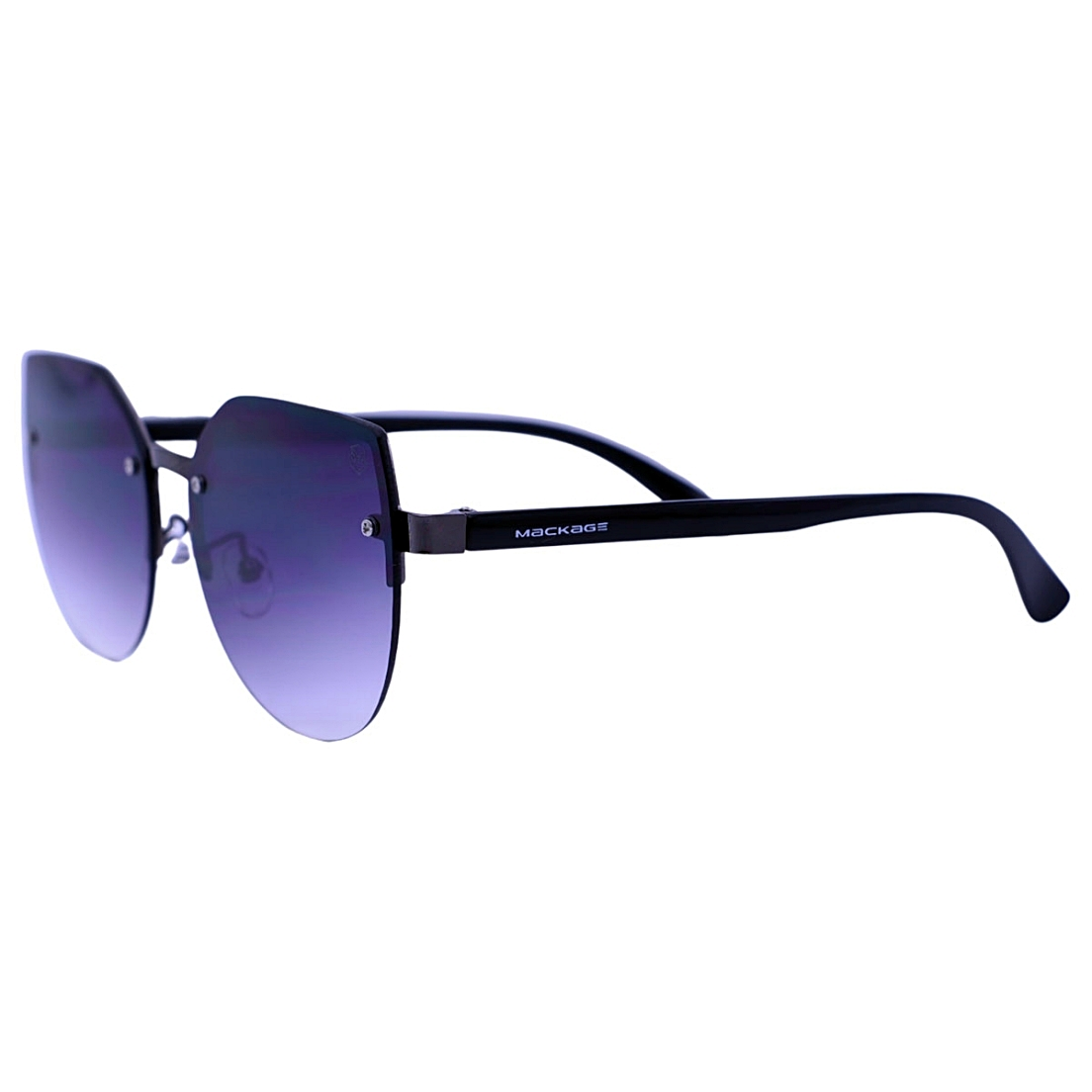 Óculos De Sol Mackage Feminino Acetato Gateado Rimless - Preto