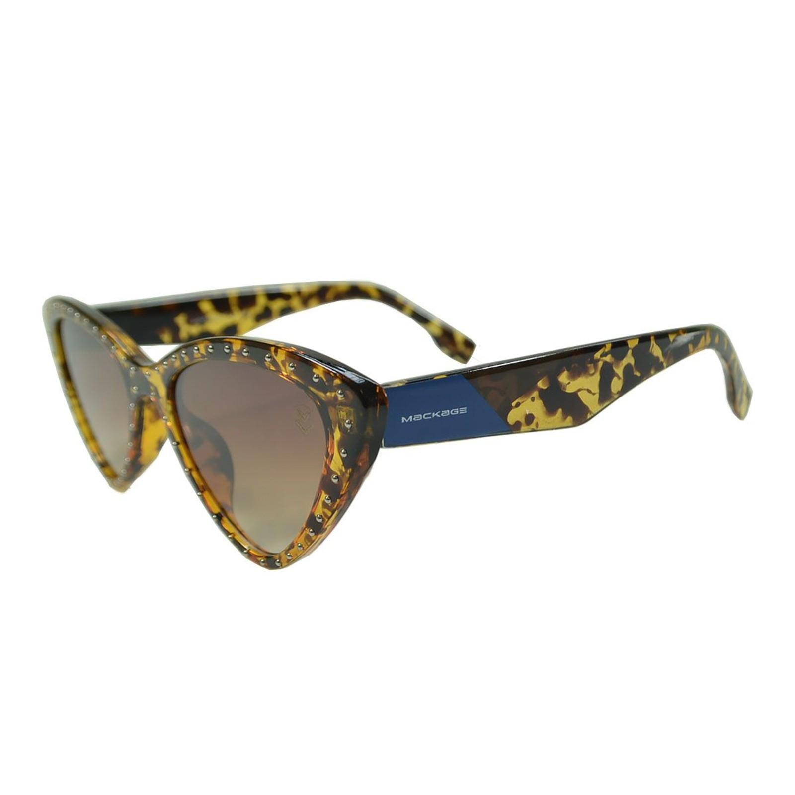 Óculos De Sol Mackage Feminino Acetato Gatinho Retrô - Tartaruga