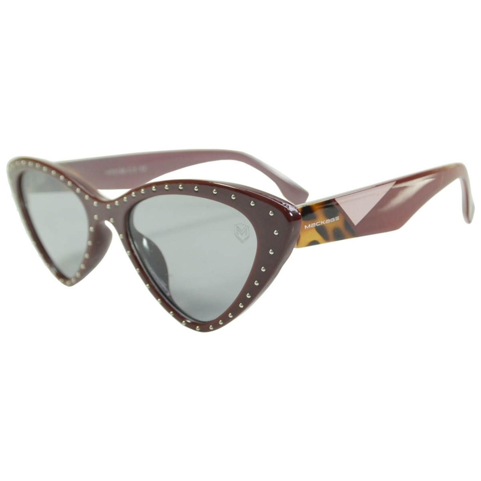 Óculos De Sol Mackage Feminino Acetato Gatinho Retrô - Vinho
