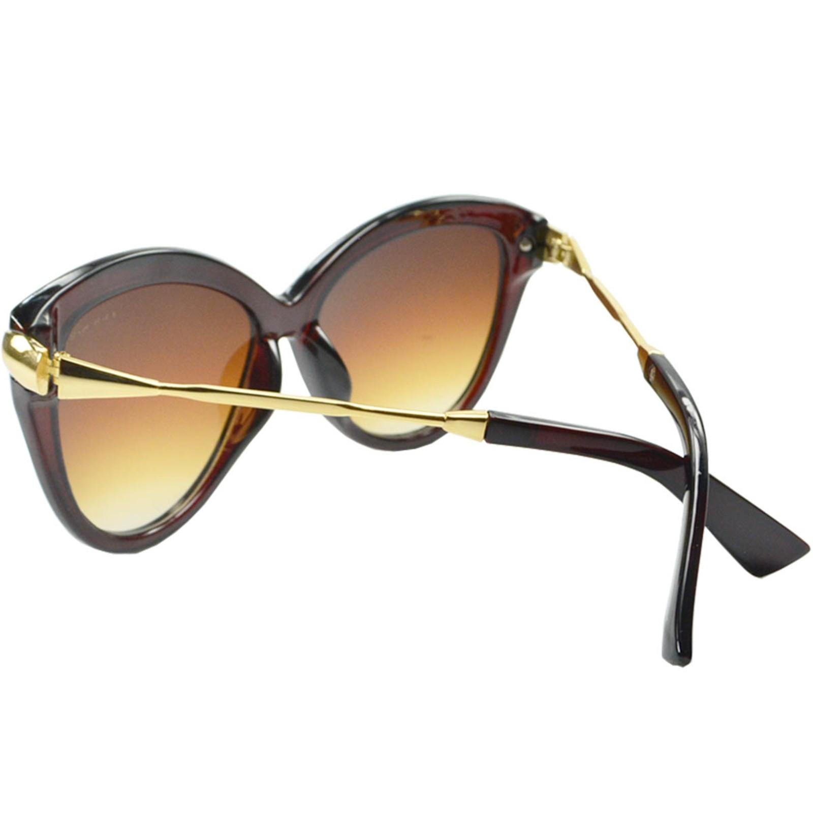 Óculos De Sol Mackage Feminino Acetato-Metal Gateado Marrom