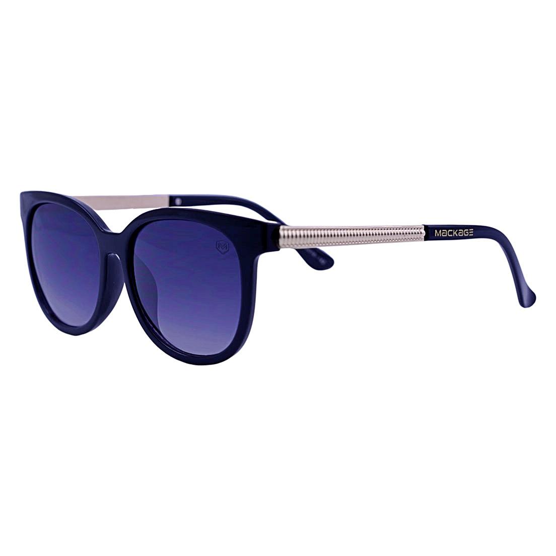 Óculos De Sol Mackage Feminino Acetato/Metal Oval - Preto/Dourado