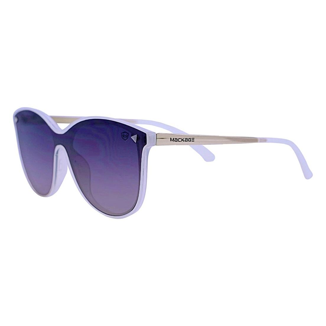 Óculos de Sol Mackage Feminino Acetato/Metal Rimless Gateado - Dourado/Branco