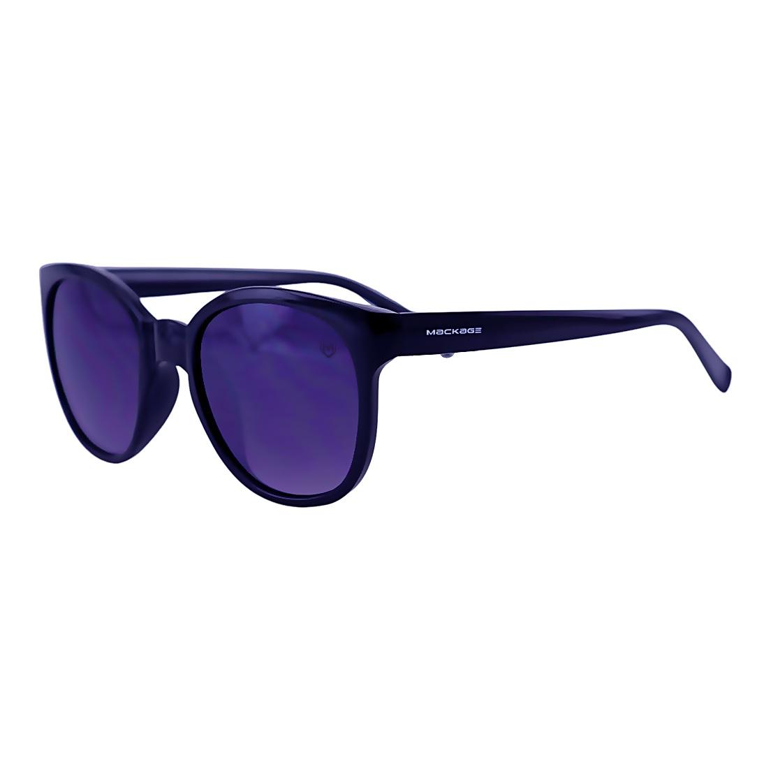 Óculos De Sol Mackage Feminino Acetato Oval Estilo Retro - Preto