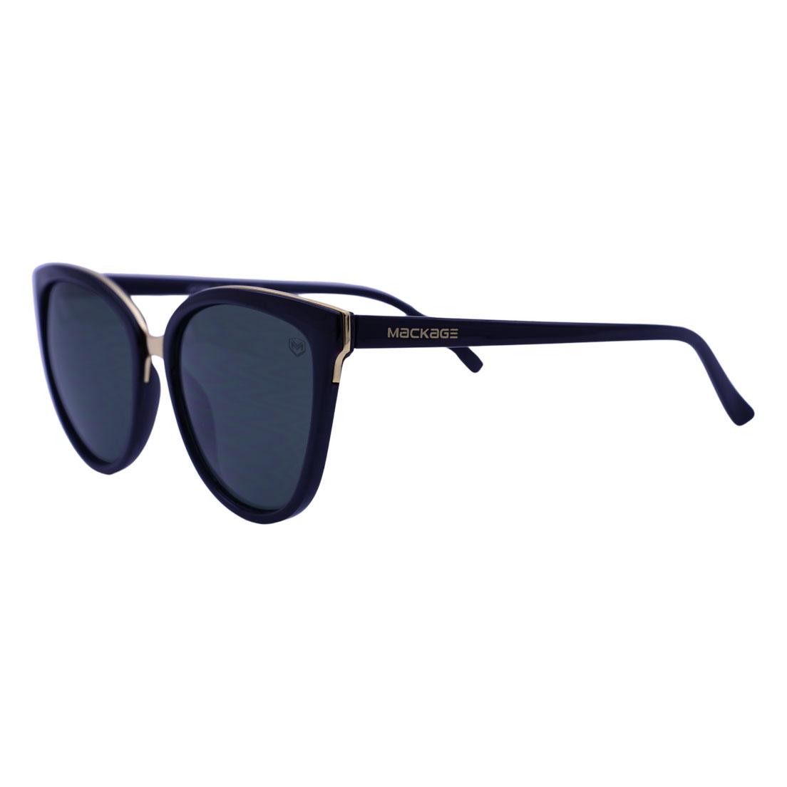 Óculos De Sol Mackage Feminino Acetato Oval Jack Feminino - Preto