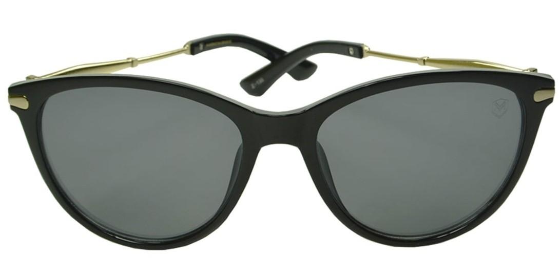 Óculos de Sol Mackage Feminino Acetato Oval - Preto