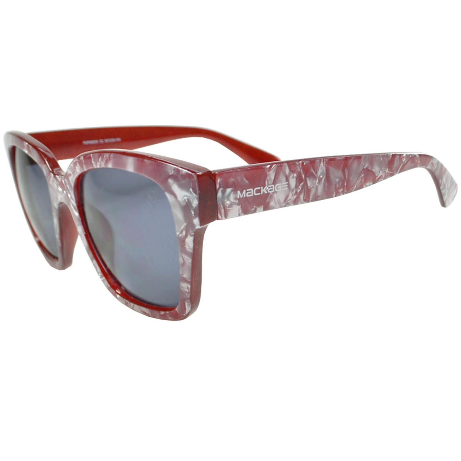 Óculos De Sol Mackage Feminino Acetato Oversize Gateado Retrô - Vermelho Marmorizado