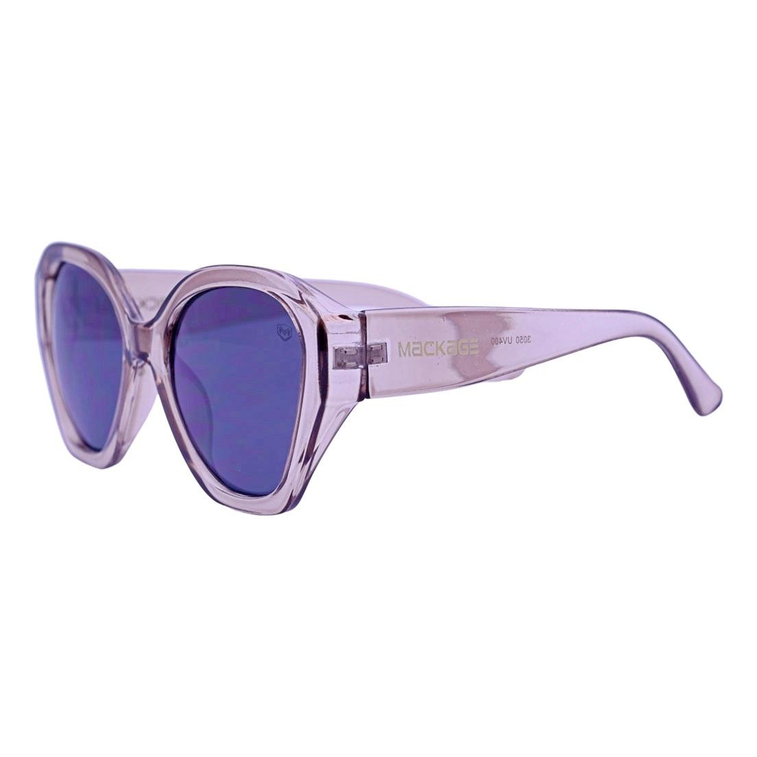 Óculos De Sol Mackage Feminino Acetato Oversize - Marrom Cristal
