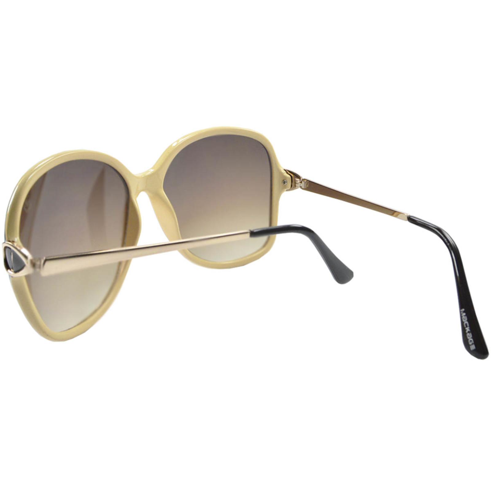 Óculos de Sol Mackage Feminino Acetato Oversize - Preto/Bege