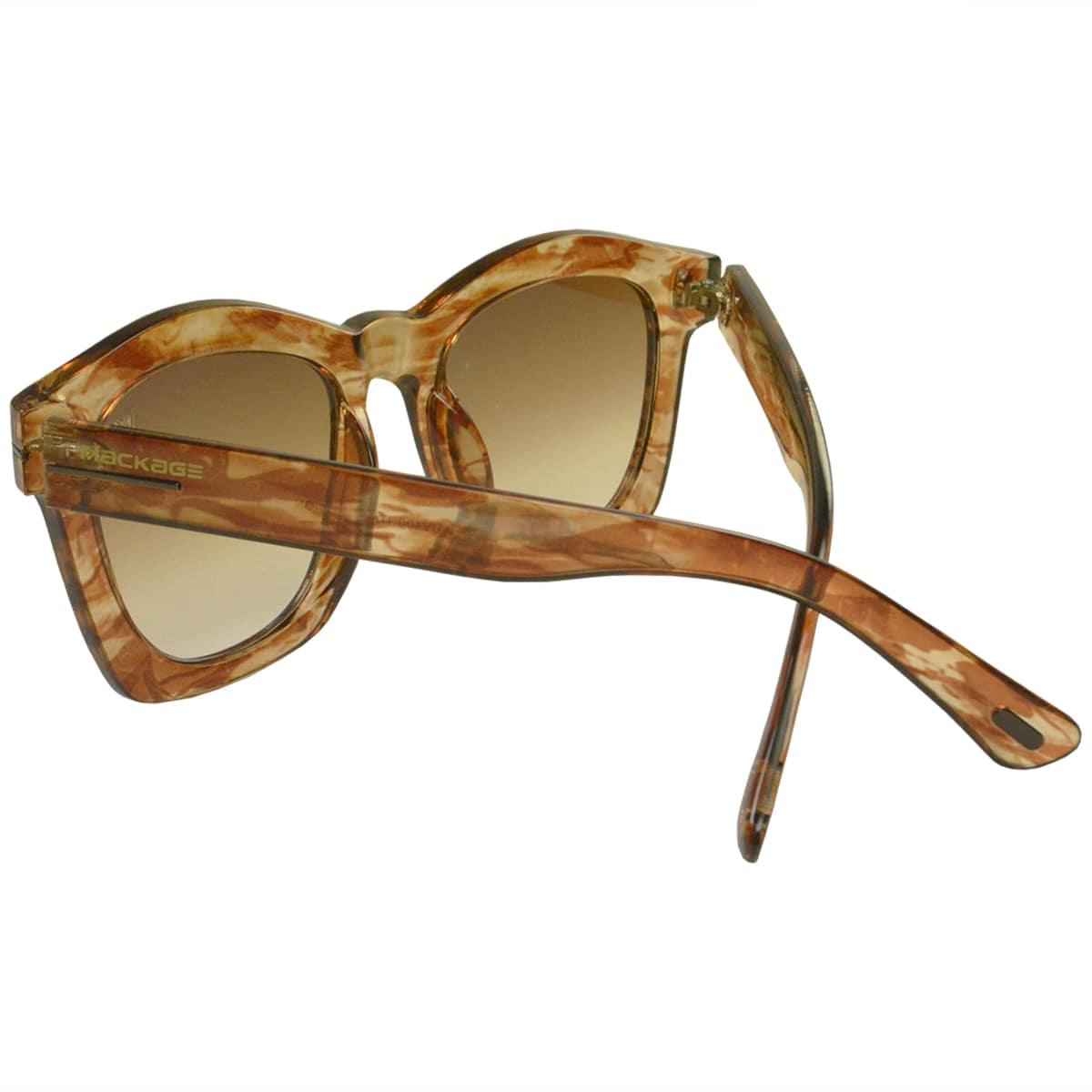 Óculos De Sol Mackage Feminino Acetato Oversize Quadrado