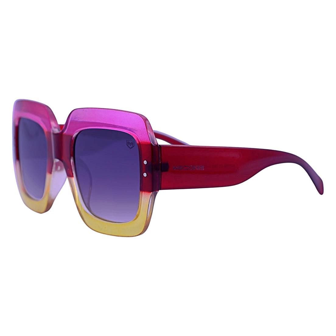 Óculos De Sol Mackage Feminino Acetato Oversize Quadrado - Multicolorido